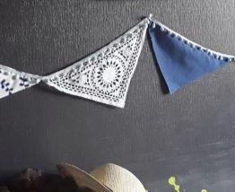 Guirlande de fanions en tissu