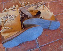 """Bottes indiennes cuir """"vintage 70"""" P40"""