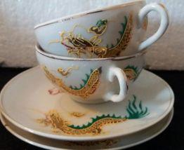 Service en porcelaine dragonware lucky Japon milieu XXÈME