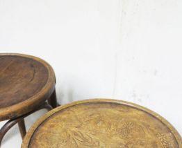 Tabourets vintage anciens Thonet