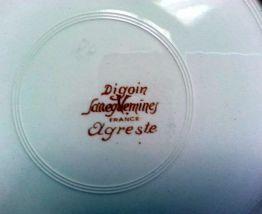 Assiettes plates lot de 6 faience Digoin Sarreguemines