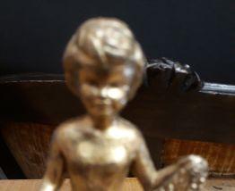Figurine chérubin en bronze ancienne