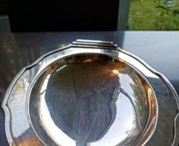 Petit plateau art déco en métal argenté