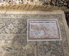 Tapis en laine et soie mécanique - 1m70x1m20
