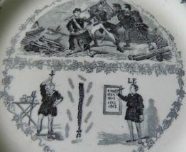 Assiette parlante XIXème siècle Creil et Montereau