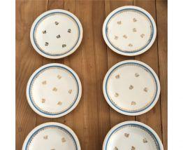 Lot de 6 assiettes en porcelaine de Limoges