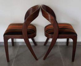 Suite de 4 chaises Baumann retapissées