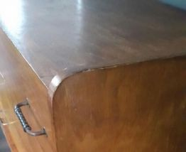 Commode vintage scandinave pieds compas