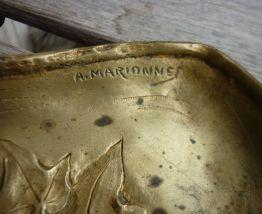 Plumier / Vide Poche bronze  MARIONNET