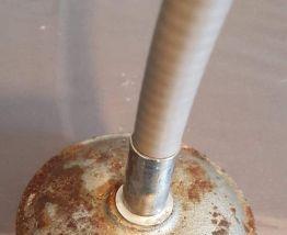 loupe sur pied articulée chromée Optico Paris des années 60