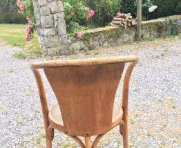 Fauteuil bistrot vintage en bois