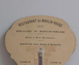 Ancien éventail publicitaire restaurant du Moulin Rouge