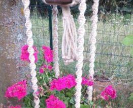 Double support plante macramé