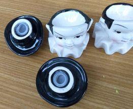 Paire de saleron porcelaine