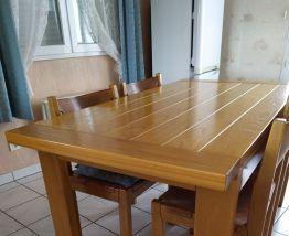 TABLE VINTAGE STYLE SCANDINAVE EN ORME MASSIF