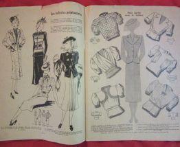 revue La Femme Chez Elle mode ouvrages recettes 1938