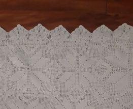 Plaid en crochet vintage