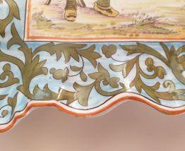Ancien plat banette mural 2 anses breton numérotée