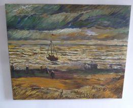 Huile sur toile 61 x 51 cm, marine