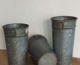 Pot en zinc de fleuriste (modèle 2)