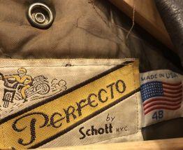 Perfecto Schott 1989 marron signé