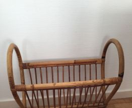 Porte-revues vintage bambou