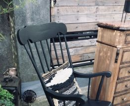 Rocking chairs noir Stole Kamnik vintage 60/70