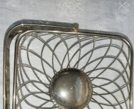 Ancienne corbeille métal argenté