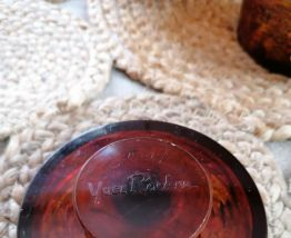 Poudrier et boîte à coton vintage