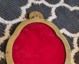 miroir ancien en métal doré