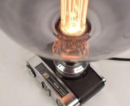 Lampe Vintage Blanche Zeiss - Atelier Monsieur Lumière