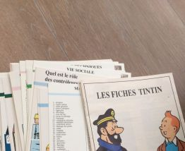 Lot fiches Tintin Casterman