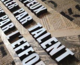 déco murale, texte, mots personnalisés