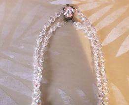 Collier perles de verre irisees vintage