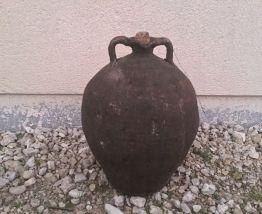 Pot ´´Amphoré ´ Ancien Terre Cuite Noire