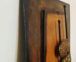 Tableau métal et bois