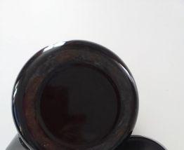 Bouilloire en tôle émaillée vintage