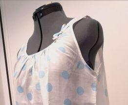 Chemise de nuit Vintage pois bleus