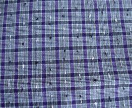 Vintage : tissu à carreaux des années 60, neuf