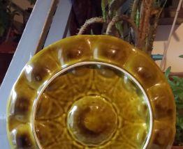 Ancien grand plat à huîtres en faïence de Sarreguemines
