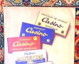 """Ancien protège cahier publicitaire """"chocolat Casino"""""""