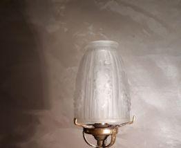 lampe laiton pied bronze verre moule et pr