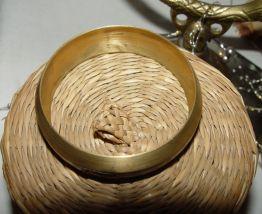 Bracelet ethnique en laiton et nacre