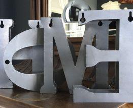 Lettres HOME en zinc