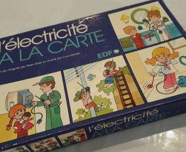 """Jeu de société vintage années 70 """"Electricité à la Carte"""", E"""