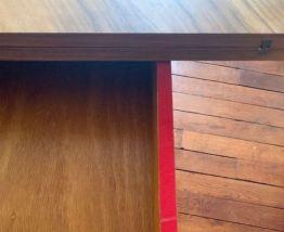 Table SAM pliante 1940 en Noyer- plateau marqueterie