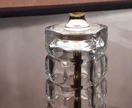 lampe pied en verre cristal 1970   quelques