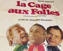 """Grande affiche cinéma """"La cage aux folles""""  1978"""
