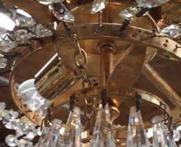 lustre cristal a pampilles 40cm  ,  1970    ,6