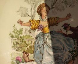 Assiette décorative signé Watteau